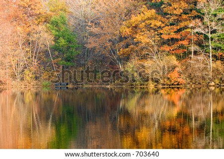 Autumn reflection - stock photo