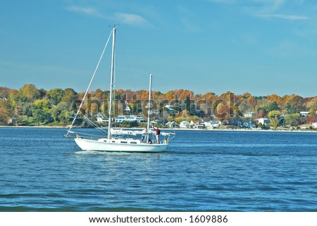 Autumn Sail on the Chesapeake - stock photo