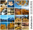 autumn scene collage - stock photo