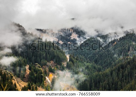 Autumn scenery from Rhodopi mountains, Bulgaria