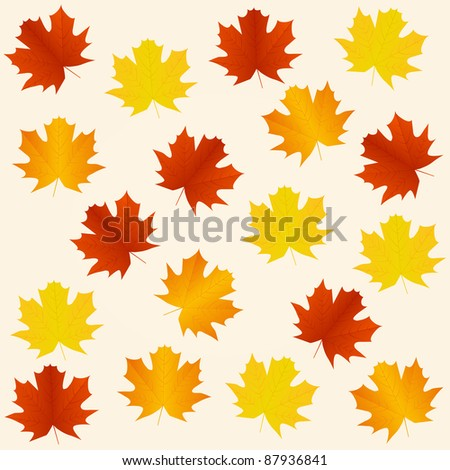 autumn seamless background. Vector available.