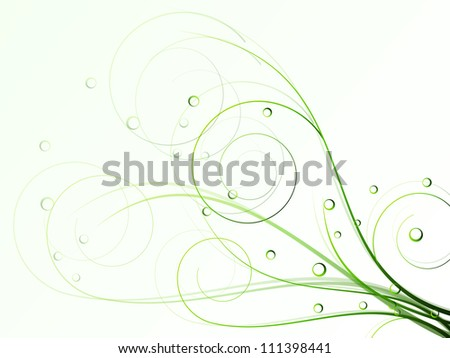 autumn spring background with floral elements - stock photo