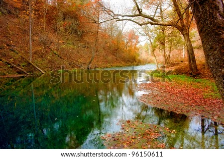 autumn spring in missouri - stock photo