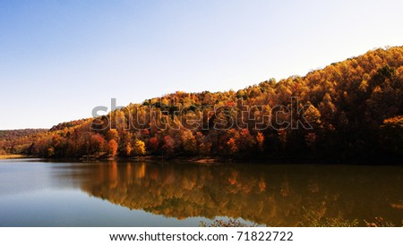 Autumn, Stonecoal Lake Wildlife Management Area, West Virginia, USA - stock photo