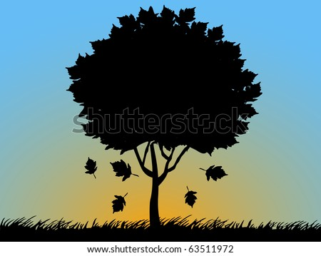 Autumn Sunset background