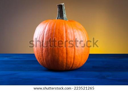 autumn symbols pumpkin - stock photo