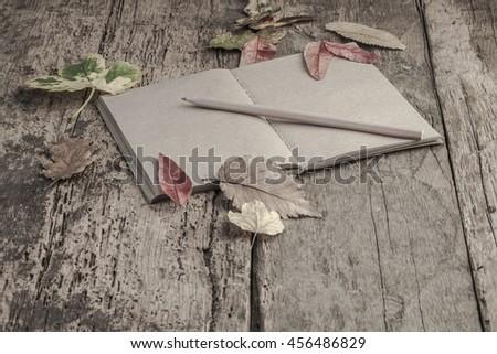 autumn template - stock photo
