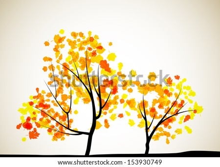 autumn tree background, jpg - stock photo