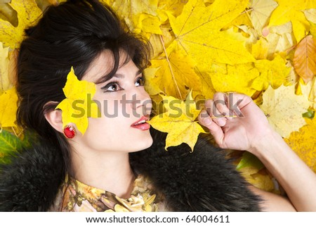 Autumn young woman.