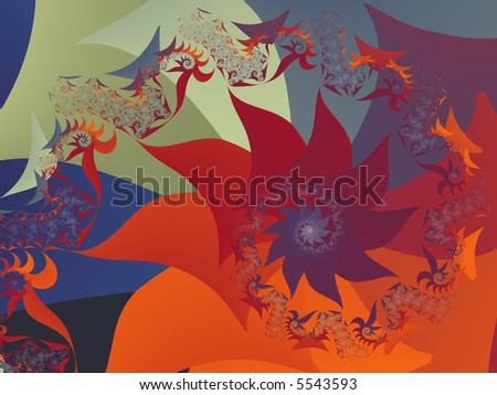 Autumnal floral background - stock photo