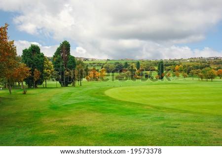 Autumnal Golf Fields - stock photo