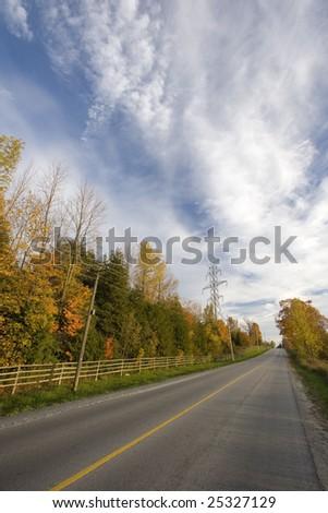 autumnal road - stock photo
