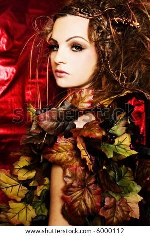 Autumnal stylization - stock photo