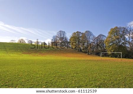 Autumns playing Field - stock photo