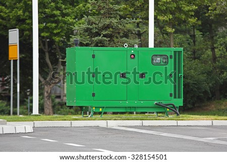 Auxiliary Diesel Generator for Emergency Electric Power - stock photo