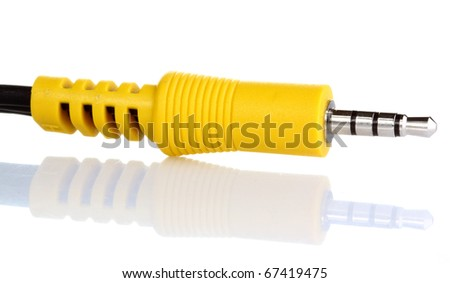 AV cables used in home stereos - stock photo