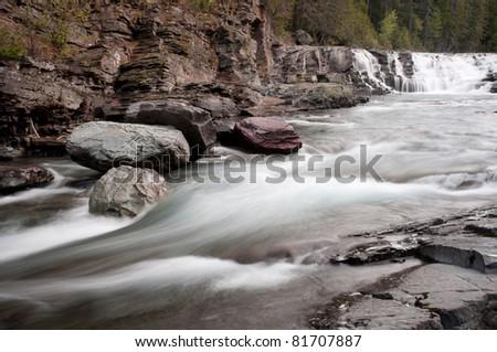 Avalanche Creek, Glacier National Park, Montana, USA - stock photo