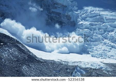 avalanche in Himalaya - stock photo