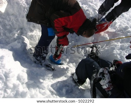 Avalanche rescue - digging out victim