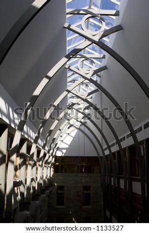 Avant Garde Ceiling Architecture - stock photo
