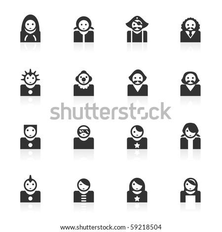 avatar icons 2  - minimo series - stock photo