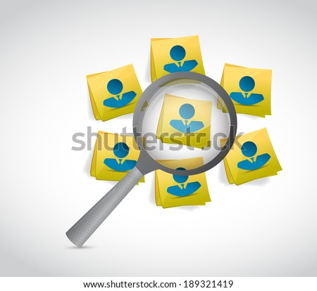 avatar people on post message under review. illustration design over a white background - stock photo