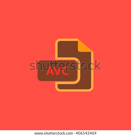AVC Flat icon on color background. Simple colorful pictogram - stock photo