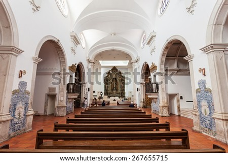 AVEIRO, PORTUGAL - JULY 02: The Cathedral of Aveiro, also known as the Church of St. Dominic is a Roman Catholic cathedral on July 02, 2014 in Aveiro, Portugal