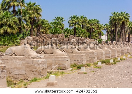 Avenue of the Sphinxes, Egypt
