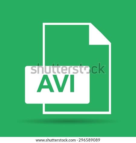 avi file icon. Flat  - stock photo