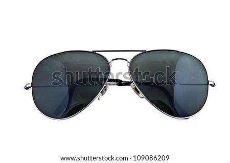 Aviator sunglasses isolated on white - stock photo