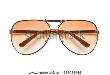 Aviator sunglasses isolated on white background - stock photo