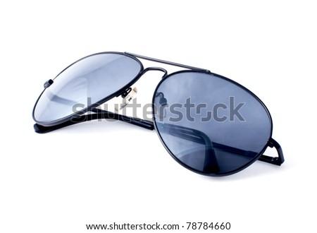 Aviator sunglasses isolated on white background - stock photo