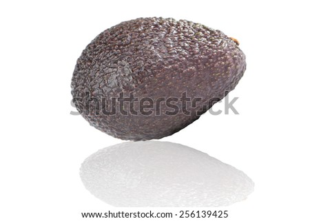 Avocado fruit on white and shadow effect - stock photo