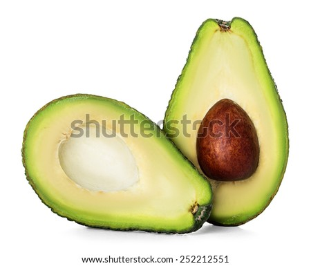 Avocado isolated on a white background. - stock photo