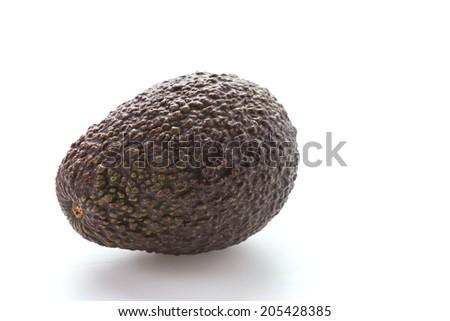 Avocado isolated on white - stock photo
