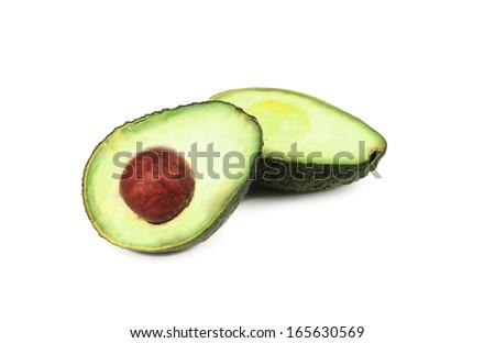 Avocado isolated on white. Isolated on a white background - stock photo