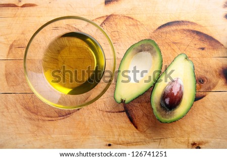 avocado oil, avocado - stock photo
