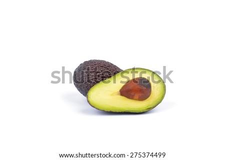 Avocado on a white background. - stock photo