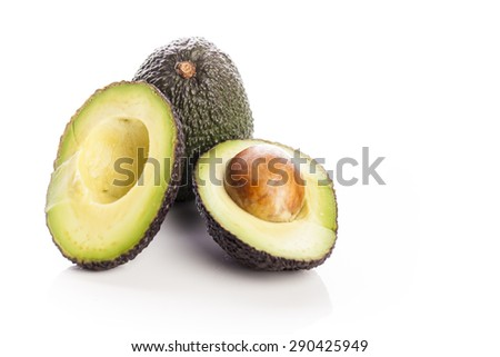 Avocado on a white background - stock photo