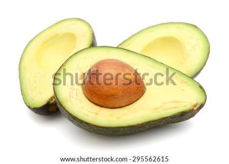 avocado on white background  - stock photo
