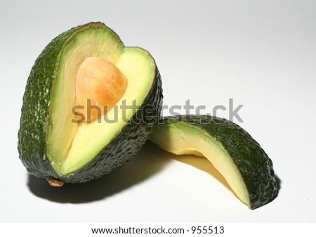 Avocado Quarter - stock photo