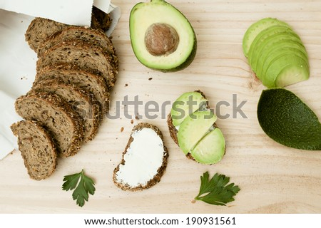 Avocado toast   - stock photo