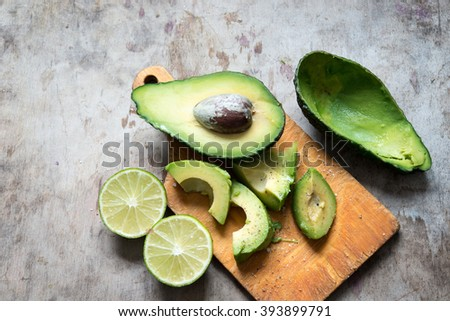 Avocado/toned photo - stock photo