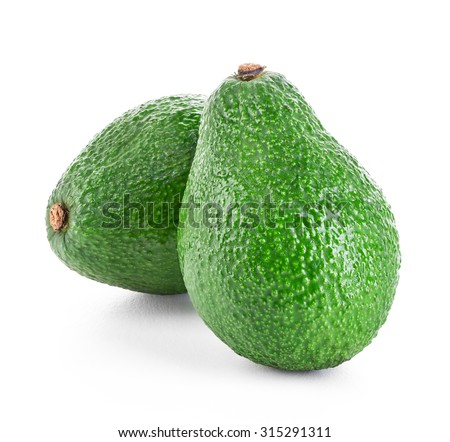 avocados isolated - stock photo