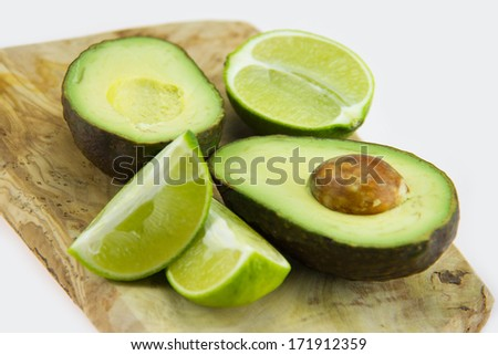 Avocados with lime