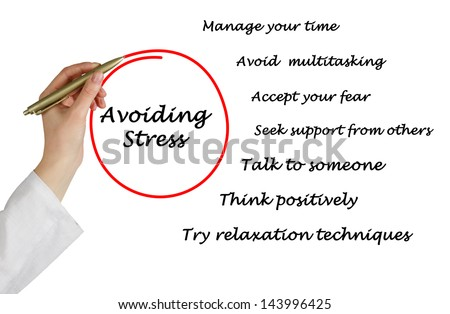 Avoiding stress - stock photo