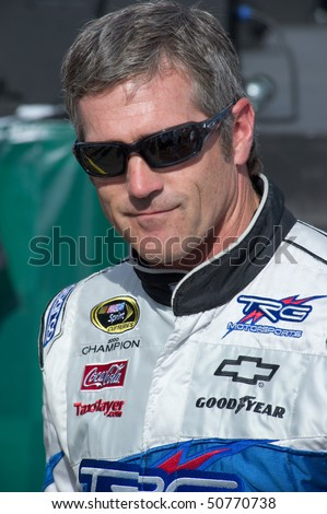 AVONDALE, AZ - APRIL 10: NASCAR driver Bobby Labonte makes an appearance before the start of the Subway Fresh Fit 600 on April 10, 2010 in Avondale, AZ.