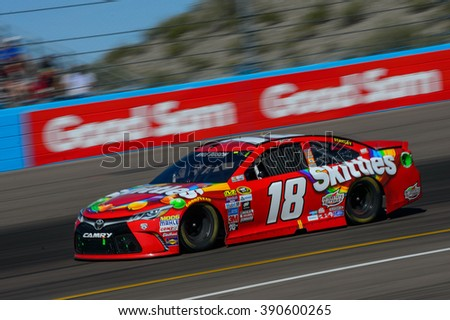 AVONDALE, AZ - MAR 13: Kyle Busch at the NASCAR Sprint Cup Good Sam 500 race at Phoenix International Raceway in Avondale, AZ on March 13, 2016