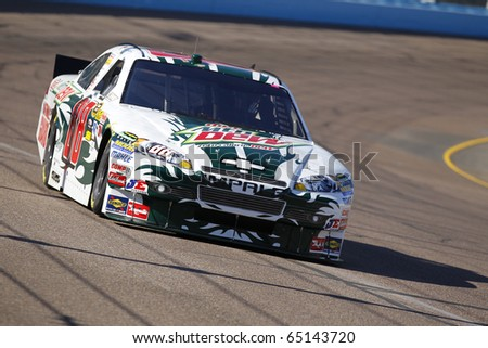 AVONDALE, AZ - NOV 12:  Dale Earnhardt, Jr. (88) takes to the track for a practice session for the Kobalt Tools 500 race on Nov 12, 2010 at the Phoenix International Raceway in Avondale, AZ.